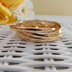 Boho Chic Gold Bangle bracelets